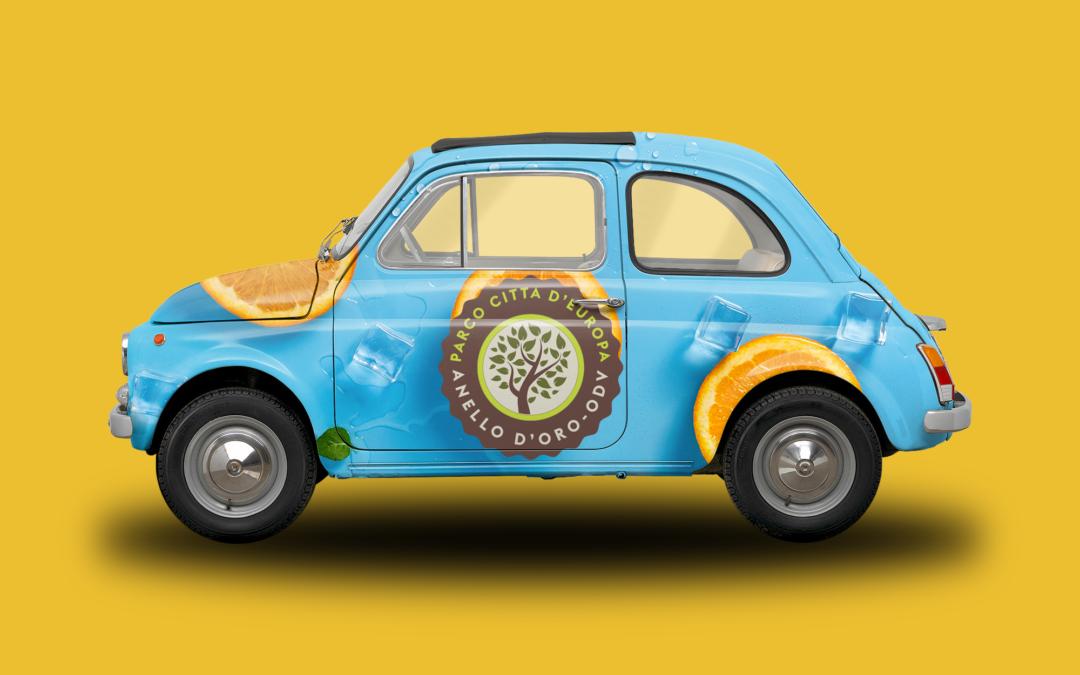 Tra i portafortuna più originali al mondo, la Fiat 500 con il logo del Parco Città D'Europa, spopola!